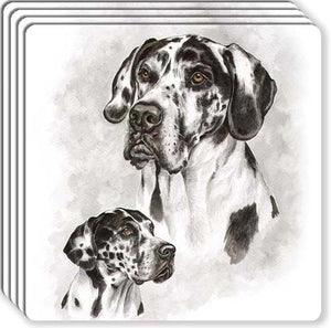 Great Dane Rubber Coaster Set