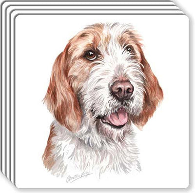 Otterhound Rubber Coaster Set