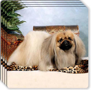 Pekingese Rubber Coaster Set