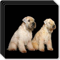 Soft Coated Wheaten Rubber Coaster Set