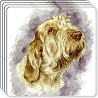 Spinone Italiano Rubber Coaster Set