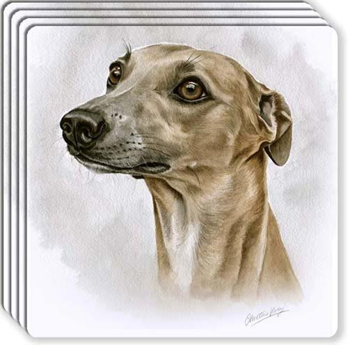 Whippet Rubber Coaster Set