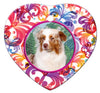 Australian Shepherd Porcelain Heart Ornament - Butterfly