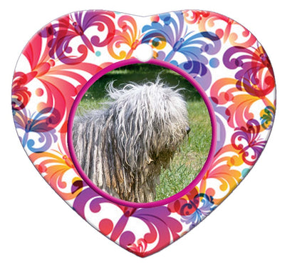 Bergamasco Porcelain Heart Ornament - Butterfly