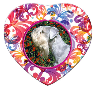 Cesky Terrier Porcelain Heart Ornament - Butterfly