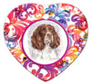 English Springer Spaniel Porcelain Heart Ornament - Butterfly