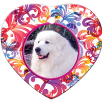 Great Pyrenees Porcelain Heart Ornament - Butterfly