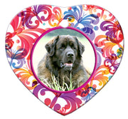 Leonberger Porcelain Heart Ornament - Butterfly