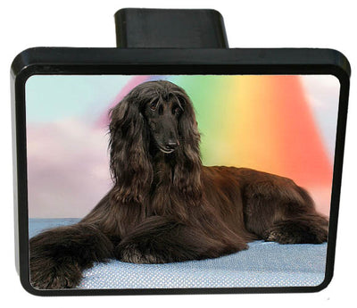 Afghan Hound Trailer Hitch Cover
