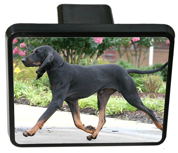 Black & Tan Coonhound Trailer Hitch Cover