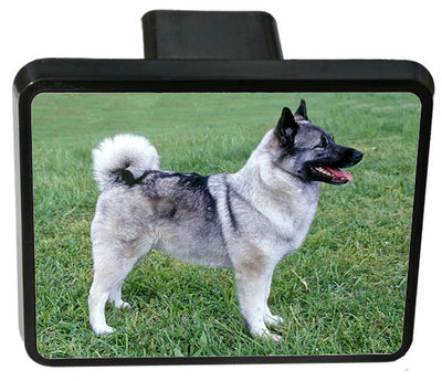 Norwegian Elkhound Trailer Hitch Cover