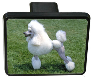 Poodle Trailer Hitch Cover
