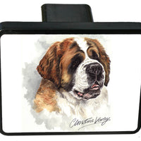 Saint Bernard Trailer Hitch Cover