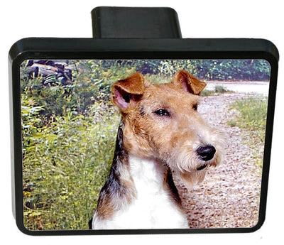 Wire Fox Terrier Trailer Hitch Cover