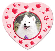 American Eskimo Porcelain Heart Ornament - Paws
