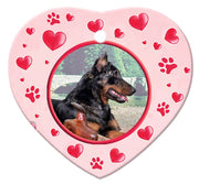 Beauceron Porcelain Heart Ornament - Paws