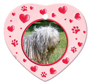 Bergamasco Porcelain Heart Ornament - Paws