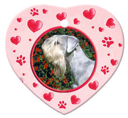 Cesky Terrier Porcelain Heart Ornament - Paws