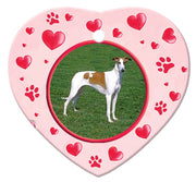 Chart Polski Porcelain Heart Ornament - Paws