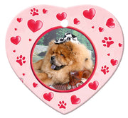 Chow Chow Porcelain Heart Ornament - Paws