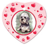 Dandie Dinmont Porcelain Heart Ornament - Paws