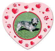 Glen of Imaal Porcelain Heart Ornament - Paws