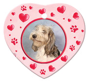 Grand Basset Griffon Vendeen Porcelain Heart Ornament - Paws