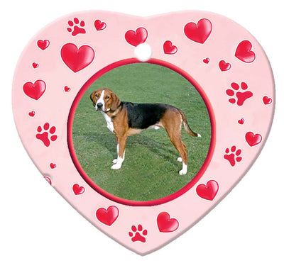 Hamiltonstovare Porcelain Heart Ornament - Paws