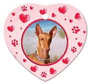 Pharaoh Hound Porcelain Heart Ornament - Paws