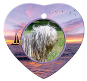 Bergamasco Porcelain Heart Ornament - Sunset