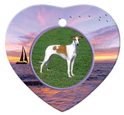 Chart Polski Porcelain Heart Ornament - Sunset
