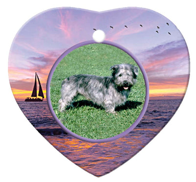 Glen of Imaal Porcelain Heart Ornament - Sunset