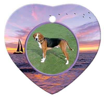 Hamiltonstovare Porcelain Heart Ornament - Sunset
