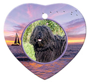 Puli Porcelain Heart Ornament - Sunset