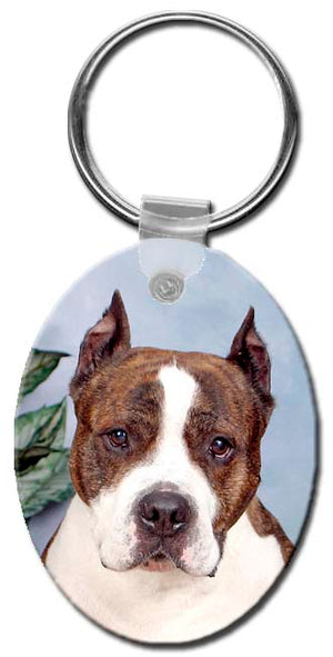 American Staffordshire Terrier  Key Chain