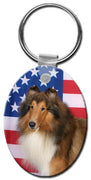 Collie Rough  Key Chain