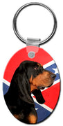 Black & Tan Coonhound  Key Chain