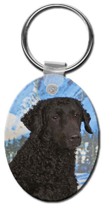 Curly Coated Retriever  Key Chain