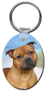 Staffordshire Bull Terrier  Key Chain