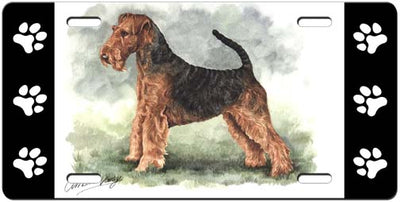 Airedale Terrier License Plate