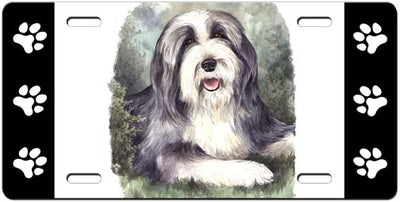 Bearded Collie License Plate