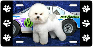 Bichon Frise License Plate