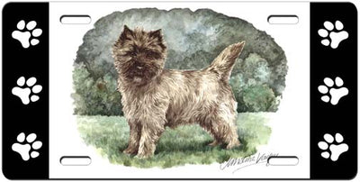 Cairn Terrier License Plate