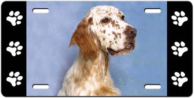 English Setter License Plate