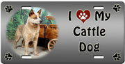 I Love My Australian Cattle Dog License Plate