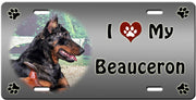 I Love My Beauceron License Plate