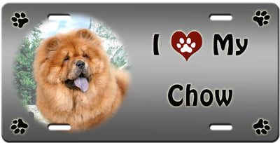 I Love My Chow Chow License Plate