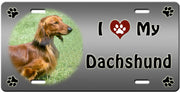 I Love My Dachshund - Long License Plate