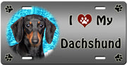 I Love My Dachshund - Smooth License Plate