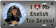 I Love My English Toy Spaniel License Plate